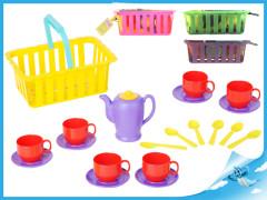 Čajový set v košíku