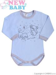 Kojenecké body s dlouhým rukávem New Baby Kamarádi modré