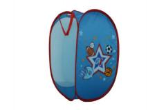 Koš na hračky modrý pro kluky 36x36x58cm