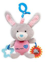 Dětská plyšová hračka Baby Mix Králíček šedý