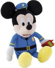 Mickey Mouse plyšový policista 30cm na baterie se zvukem 12m+