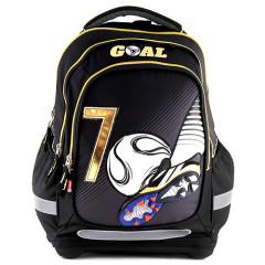 Školní batoh Goal - Černý - zlaté zipy I.