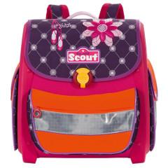 Školní aktovka Scout - Baleríny a květina
