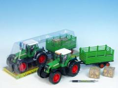 Traktor s vlečkou plastový 43 cm