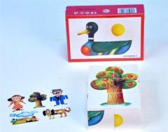 Kostky kubus dřevo 6ks v krabičce