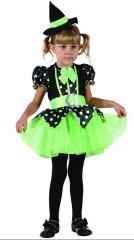 Šaty na karneval -čarodějka,  92-104 cm