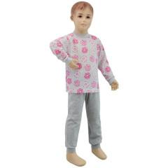 Bavlněné pyžamo donuts růžovo-šedé Esito vel. 86 - 122