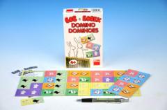 Domino Bob a Bobek 28 kartiček společenská hra v krabičce