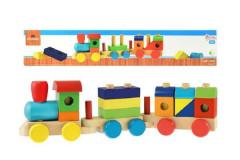 Vlak + 2 vagóny dřevo 45cm v krabici 18m+
