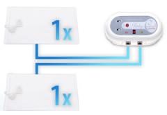 Baby Control Digital BC 220i - monitor dechu pro dvojčata