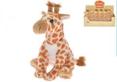 Žirafa plyšová 17cm sedící 0m+