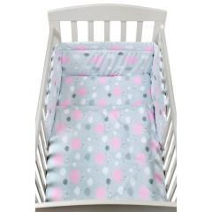 3-dílné ložní povlečení New Baby 90 x 120 cm obláčky růžové