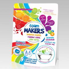 Barevná pěna do koupele Foam Markes 9 x 35 g