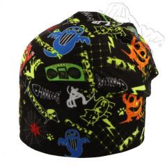 Oboustranná čepice s neon. příšerkami černá RDX
