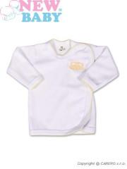 Kojenecká košilka New Baby Classic v žlutým lemem a výšivkou vel. 56