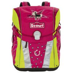 Školní batoh Scout - Stříbrné hvězdičky a koník