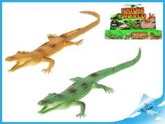 Krokodýl pískací 35cm 2barvy