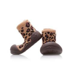 Botičky Attipas Animal Leopard HNĚDÁ