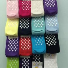 Kojenecké ponožky s protiskluzem vel. 0 (17-19) Fuchsiové