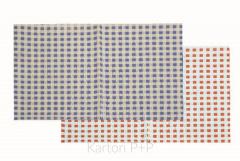 Ubrus do výtvarné výchovy 65x50cm červeno-bílé kostky