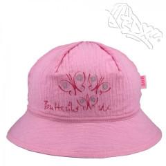 Dívčí klobouk s motýlky Růžový RDX
