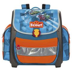 Školní aktovka Scout - Helikoptéra a motorky