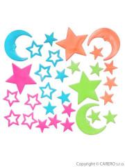 Svítící samolepky Bayo hvězdičky - 30 ks