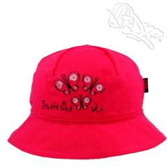 Dívčí klobouk s motýlky Fuchsiový RDX
