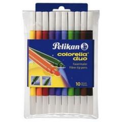 Fixy Pelikan 10 barev, oboustranné, pratelné