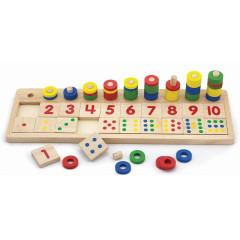 Dřevěná hra počítání Viga