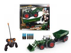 RC Traktor se lžící a vozíkem, 60 cm