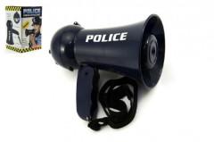 Megafon policejní se zvukem se světlem