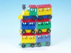 Stavebnice LORI 8 - lokomotiva + 5 vagónků velké