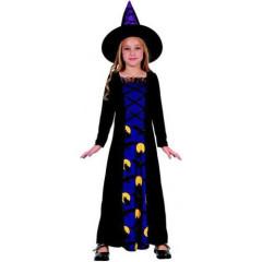 Karnevalový kostým - Čarodějka, Vel. 120 - 130 cm