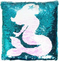 Polštář s flitry mořská panna