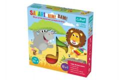Safari Bim! Bam! hudebně-pohybová hra 10v1 + velký dřevěný xylofon