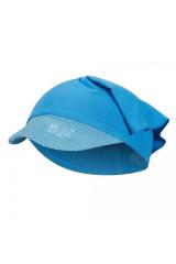 Šátek tenký kšilt Outlast® - modrá/pruh modrožlutý