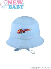 Letní dětský klobouček New Baby Truck vel. 74 MODRÝ