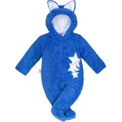 Zimní dětská kombinéza New Baby Ušáček modrá