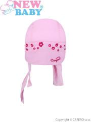 Letní dětská čepička- šátek New Baby Gorgeous vel. 110 SVĚTLE RŮŽOVÁ