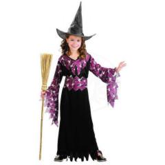 Karnevalový kostým - Gotická Čarodějka, Vel. 120 - 130 cm
