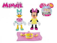Minnie a Daisy figurky 8 cm kloubové s piknikovými doplňky