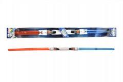 Svítící meč/tyč plast 89cm rozložitelný vysouvací se světlem se zvukem na baterie