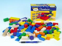 Stavební kostky dřevěné 100ks Detoa