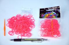 gumičky 250ks růžové