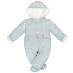 Zimní kombinéza zateplená Melírek pastelová tyrkys welsoft Baby Service