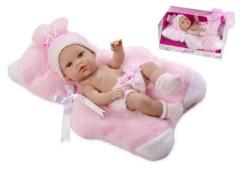 Panenka/miminko vonící 33cm růžové tvrdé tělo