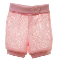 Šortky plátěné MKCool Růžové kytka Vel. 56-68