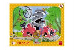 Puzzle deskové tvary Krtek opravář 36x28cm 12 dílků