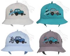 Chlapecký letní zavazovací klobouček AUTO vel. 50
